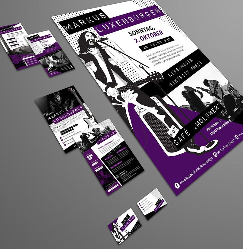 Design-Vorlagen für Musiker und Bands zur einfachen Erstellung eines Band-Designs
