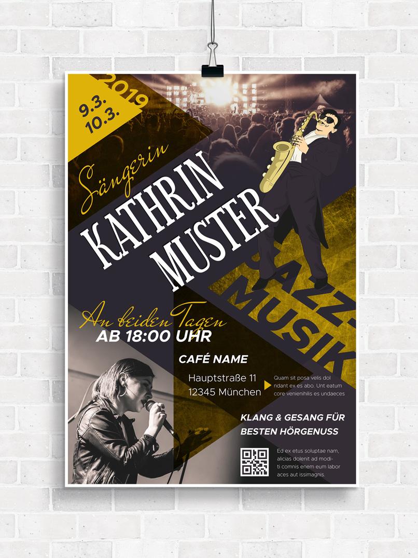 Vorlage für Musik-Poster zur Gestaltung eines Konzertplakats