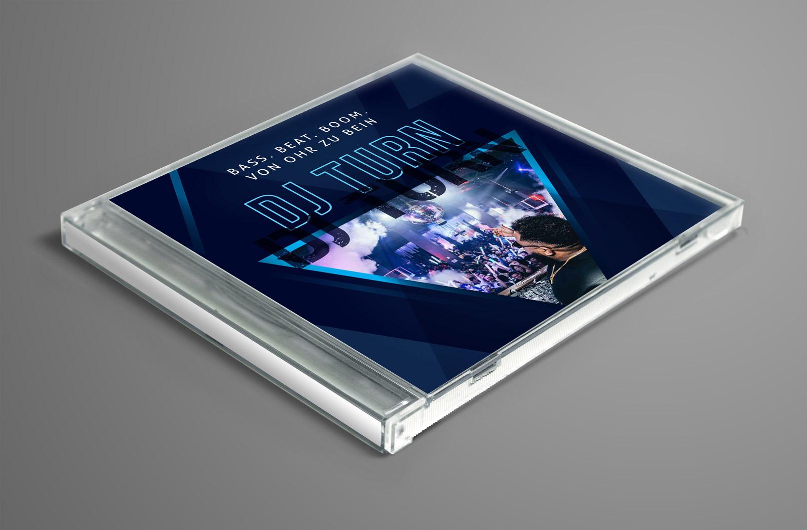 Design-Vorlage für ein CD Cover, ausgelegt für DJs
