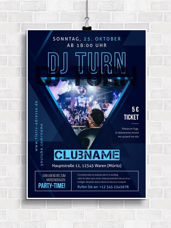 Poster-Design-Vorlage für DJs zur einfachen Anpassung