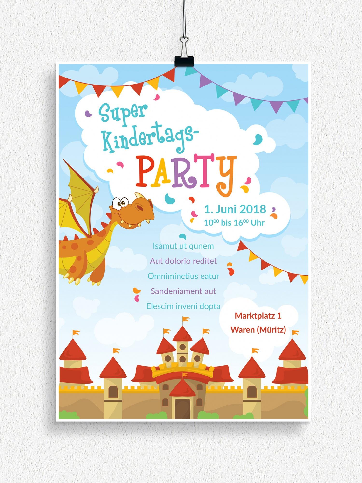 Poster, Flyer und Plakate zum Neptunfest und Kindertag