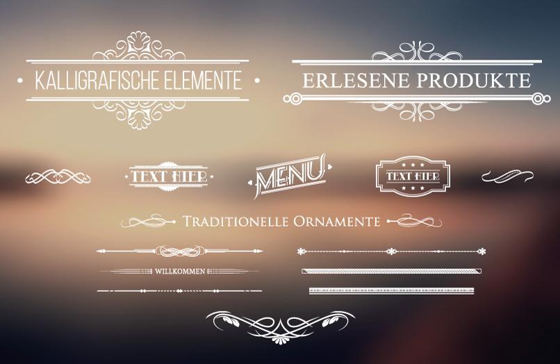 Ornamente und Verzierungen als Download