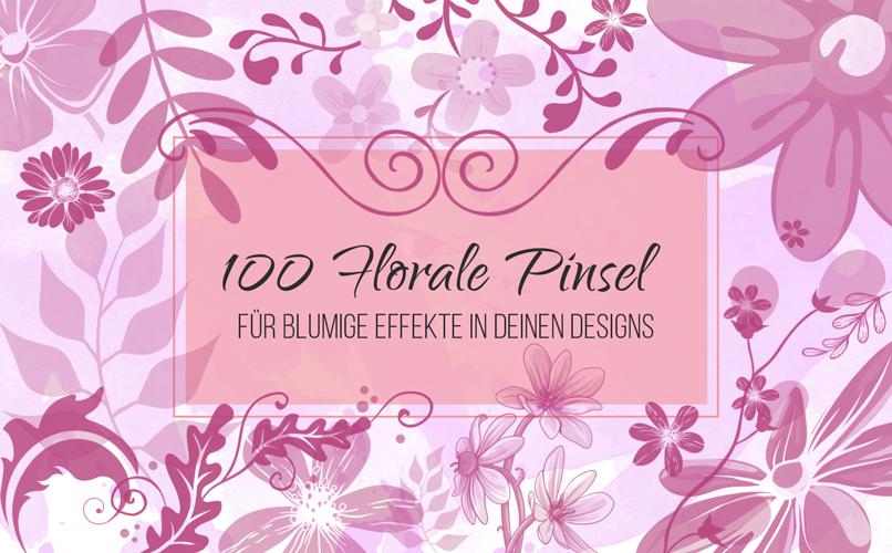 Beispiel zur Anwendung der Pinselspitzen für florale Elemente und Illustrationen. Das ist unser Flower Brush Pinsel-Set.