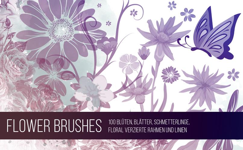 Flower Brushes – Beispielbild zur Anwendung der Pinselspitzen