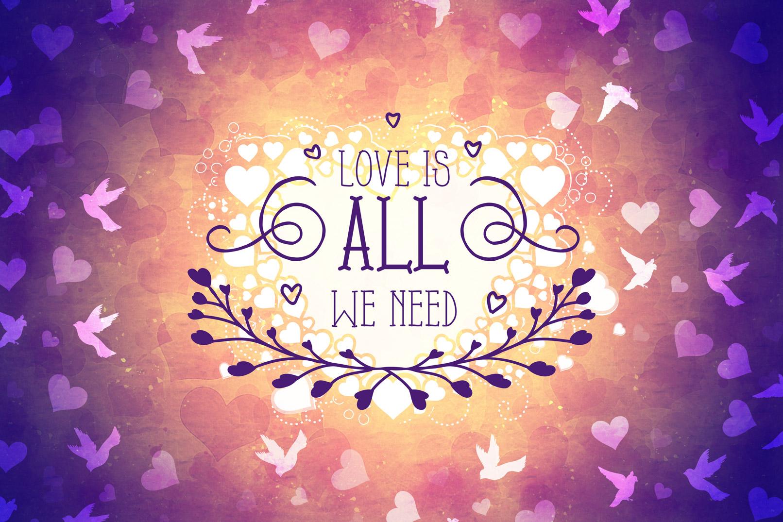 Illustration zur Anwendung der Pinsel für Liebe und Romantik: Herzen, Romantik, Zweisamkeit.