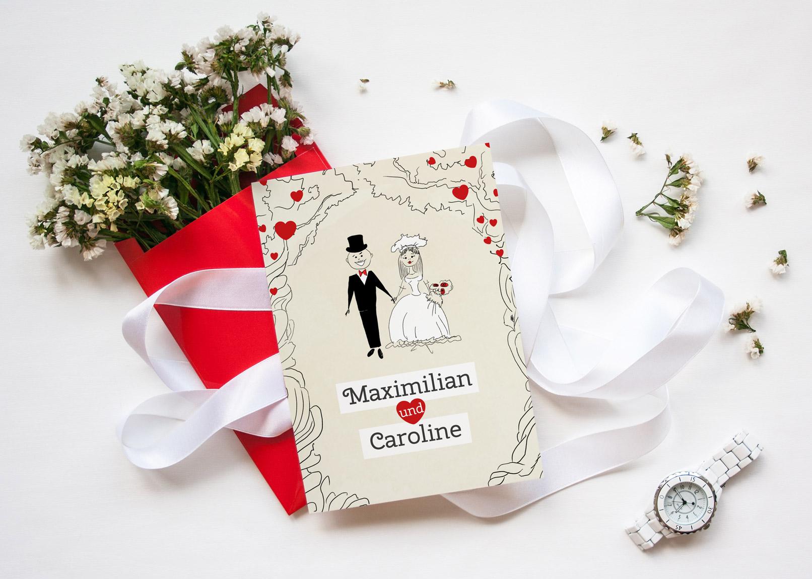 Mockup für Hochzeitsfotografen zum Versenden von Hochzeitsgrüßen