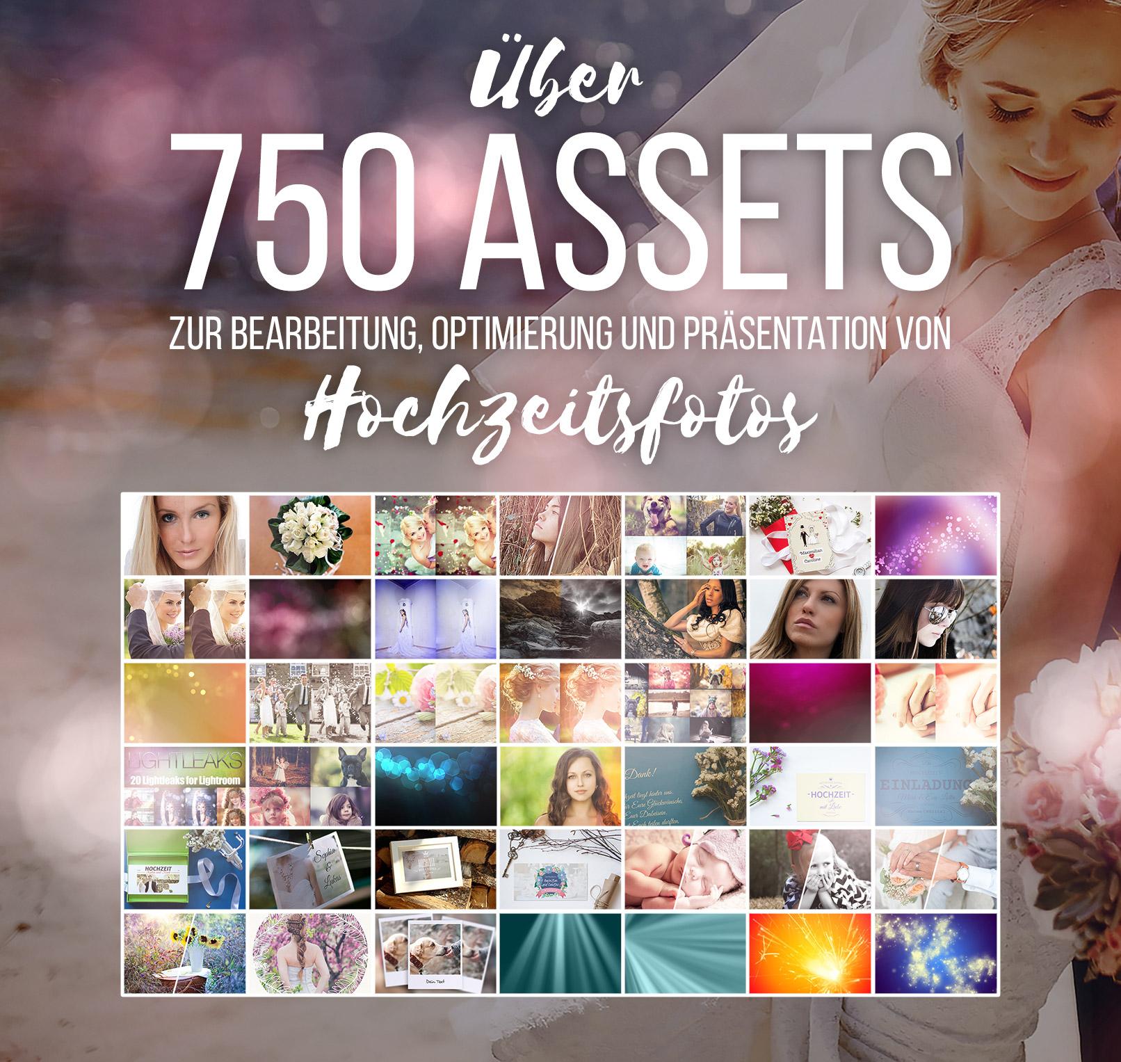Presets, Mockups, Aktionen, Pinsel, Bokehs für die Hochzeitsfotografie