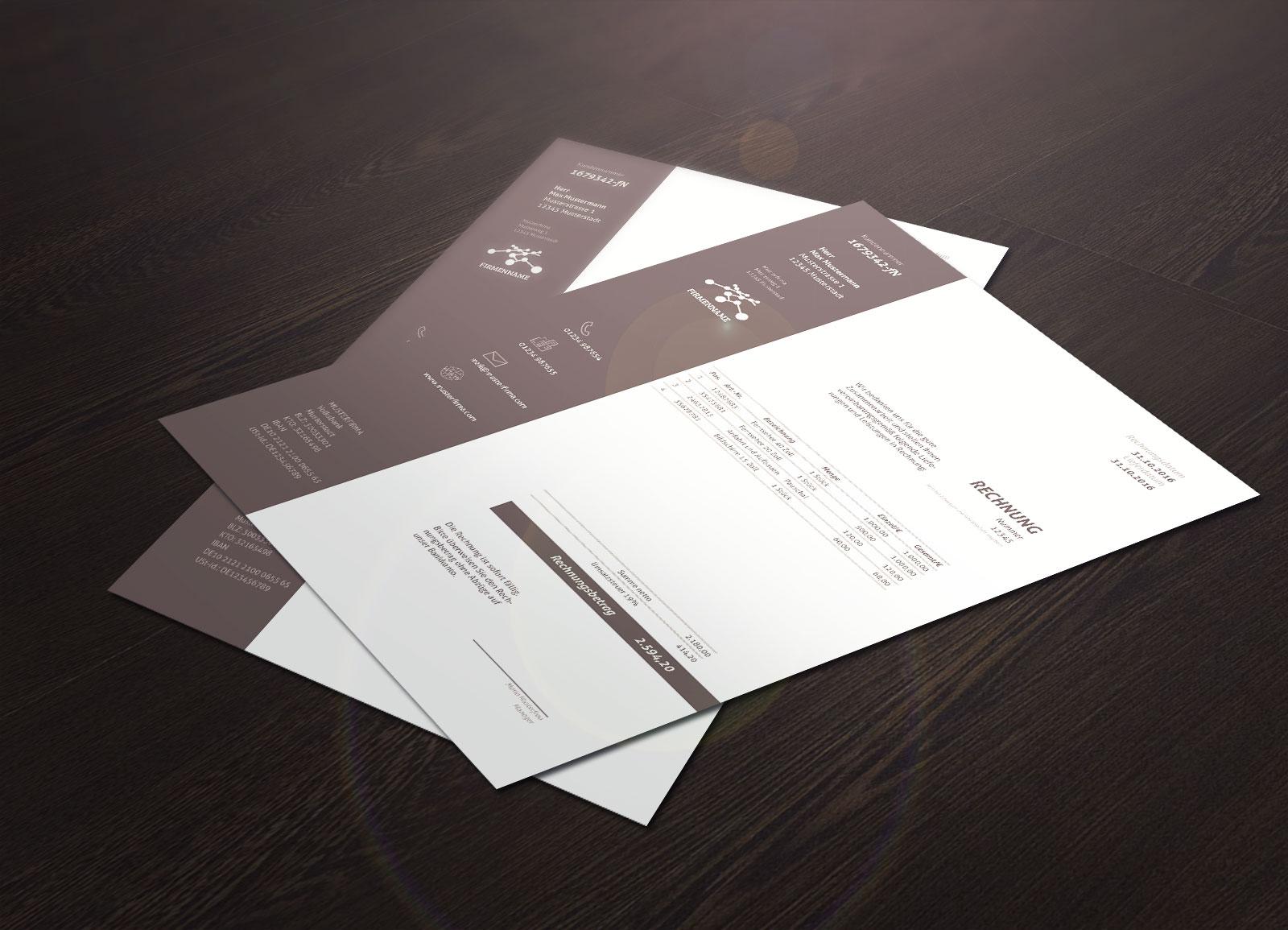 Rechnungsvorlagen – perfekte Muster für Word und InDesign zum Download