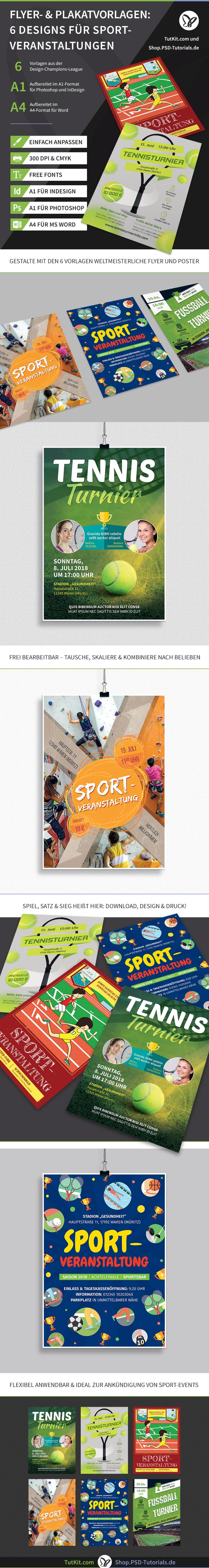 Flyer- und Plakat-Vorlagen für sportliche Veranstaltungen