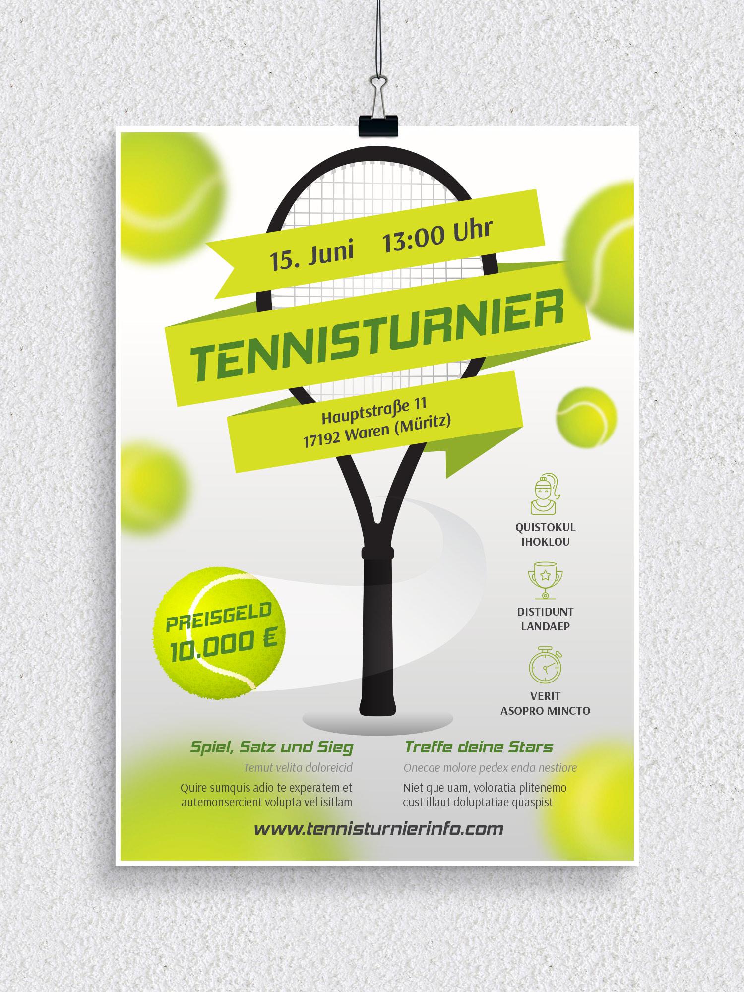 Poster, Flyer und Plakate fuer Sportveranstaltungen
