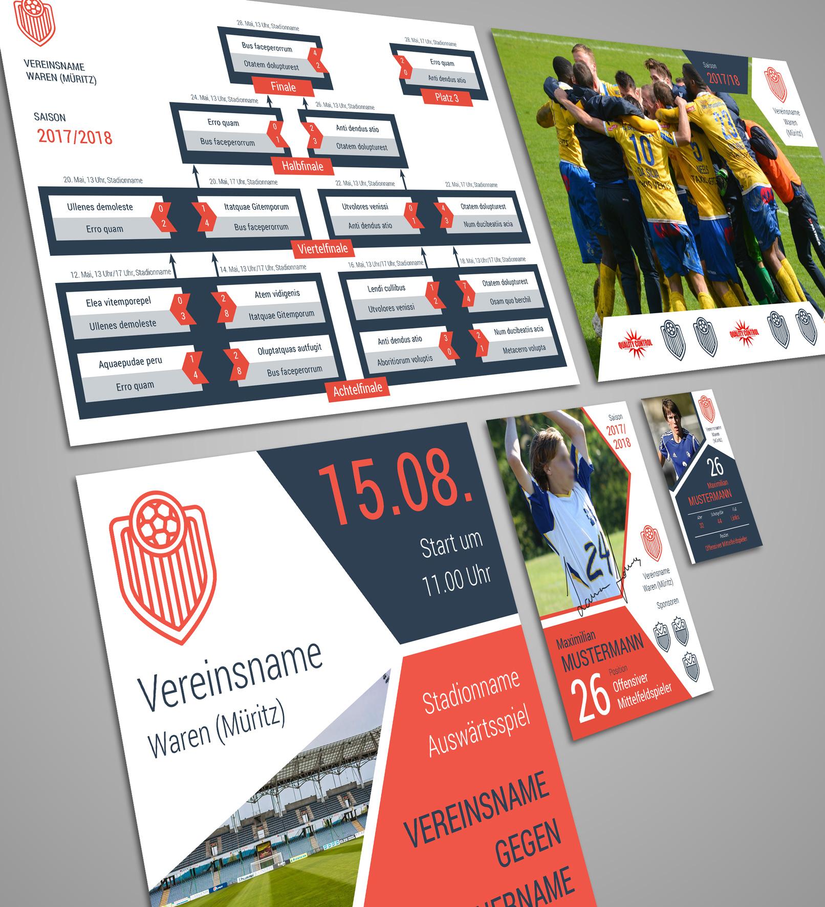 Design-Vorlagen für Sportvereine – Komplettausstattung