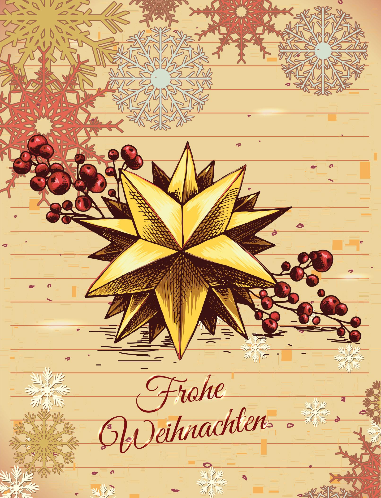 Wintermotive und Illustrationen für Weihnachten: Beispiel Glückwunschkarte